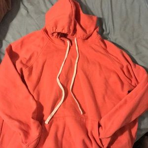 Women's coral pink hoodie- size XXL